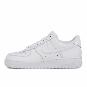 Women's Nike Air Force 1 One Low TRIPLE WHITE ALL LEATHER ORIGINAL OG 315115-112