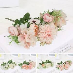 Soie Pivoine Artificielle Faux Bouquet Fleurs Bouquet Mariage Décor Jardin DE