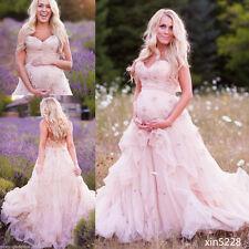 Rosa Mutterschaft Hochzeitskleid Ballkleid Brautkleider Schwanger geschneidert