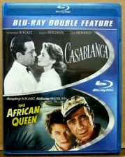 Casablanca (1942) / The African Queen (1951) Blu-ray Rare Oop Free Shipping