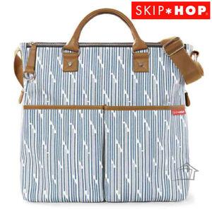 NEW Skip Hop Duo Special Edition Diaper Bag - Blue Split Stripe Nappy Storage