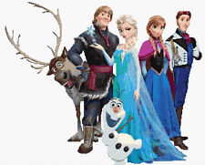 Elsa, Anna & Chicos, Disney Frozen puntada cruzada contada Kit de películas/Niños/Disney.