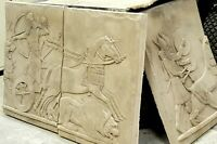 Assyrian/Persian - Museum Replica - Stone Panels - Wall art, Chariot, Slate