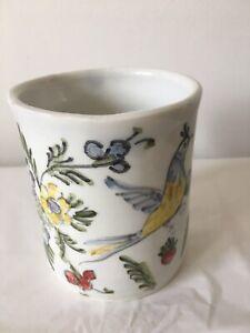 Hand painted tourist chunky pottery mug - possibly Greek