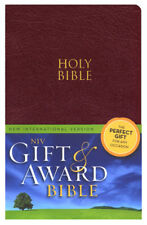 New International Version Gift & Award HOLY BIBLE BURGUNDY Imitation Leather