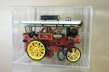 WILESCO D409 LIVE STEAM SHOWMANS TRACTION ENGINE with DISPLAY CASE nc