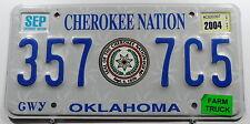 """USA Nummernschild aus Oklahoma """"Cherokee Nation"""" Indianerschild FarmTruck.10369."""