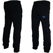 Mens Adidas Originals SPO Fleece Trefoil Tracksuit Pants Gym Bottoms Black