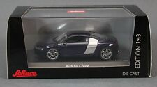 2012 Audi R8 V10 Coupe in Blue 1:43 Scale Diecast Schuco 450750200