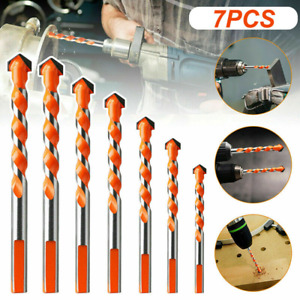 7PCS Ultimate Drill Bits Multifunctional Ceramic Glass Punching Hole Working Set