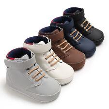 Baby Boys Shoes Newborn Kids Sneakers High Top Antislip Prewalker Crib Shoe