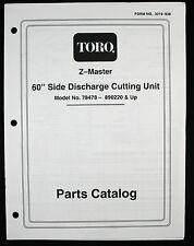 """1997 Toro Z-Master 60"""" Side Discharge Cutting Unit Model 78478 Parts Catalog"""