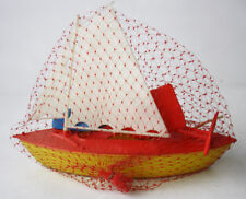 RARE VINTAGE 70'S CYPRUS PLASTIC SAIL SHIP BOAT MADE IN GREECE GREEK 26cm NEW !