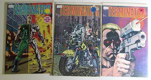 Terminator Lot of 3 #1,2,3 Dark Horse Comics (1990) NM 1st Series Comic Books