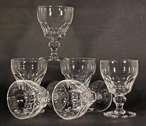 VINTAGE SET of 6 STUART CRYSTAL DORSET PATTERN PORT WINE GLASSES
