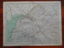 Victorian Colour Map of Carlisle (c1896) Ordnance Survey - Cumberland, N England