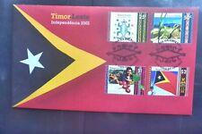 2002 EAST TIMOR LESTE INDEPENDENCE 1ST STAMP ISSUE PRESENTATION PACK