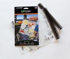 2 OPSAK 9x10 New Double Zipper Waterproof Odor Proof Airtight Pouch Bags LOKSAK
