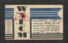 1938 W3ECM QSL CARD PHILADELPHIA PA USED USA