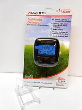 AcuRite Portable Lightning Detector Alert 25 Mile Alarm FREE INDOOR STAND & SHIP