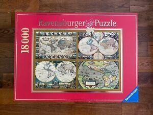 3/4 SEALED RARE Ravensburger 18000 HISTORICAL WORLD MAPS Jigsaw Puzzle