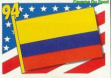008 FLAG DRAPEAU COLOMBIA RED BACK VIGNETTE STICKER USA 94 BROCA
