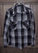 ReClaim S SMALL Men's Plaid Pearl Snap Rockabilly Western Shirt L/S GUC