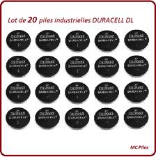 20 piles bouton DL2032 lithium Duracell Ind, livraison rapide et gratuite