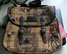 Signare messenger bag satchel hunting print tapestry bag horse and hound horses