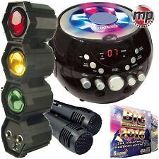 CDG Boombox Portátil Máquina De Karaoke con bluetooth, 2017 CD y 3 vías de Luz Disco