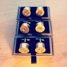 Boxed Shotgun Cartridge Cuff links Country Sport Shooting Hunting Wedding