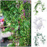 Faux Plants Party Artificial Leaves Willow Vine Eucalyptus Rattan Garland