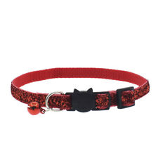 Glitter Cat Collar With Bell Safety Kitten Small Cats Adjustable Shiny Collars