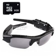New Sunglasses Spy Hidden Camera Camcorder Mini DV DVR Video Recorder + 8GB Card