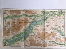 Scotland 1915 Original Antique County Map Bartholomew, Aberfeldy Killin Loch Tay