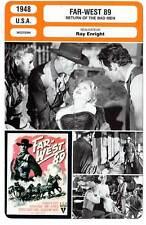 FICHE CINEMA : FAR-WEST 89 - Scott,Ryan,Enright 1948 Return of the Bad Men