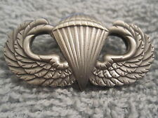 US ARMY *Airborne Ranger* Jump Wings Solid w/Ant-Silver Plating Parachute Wings