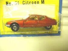 LESNEY MATCHBOX 1971 MB51B BRONZE CITROEN SM *C9 MINT IN A CUT BUBBLE PACKAGE*