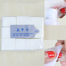 900x Lint Free Nail Art Wipes Paper Pad Gel Acrylic Tips Polish Remover Cleaner