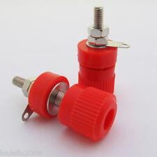 5pcs Red Binding Post Speaker Power Cable 4mm Banana Jack Female 33mm