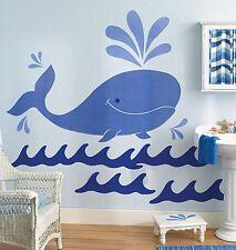 Wallies Wallpaper Big Murals Whimsical Whale