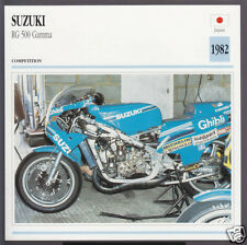 1982 Suzuki RG 500cc Gamma (499cc) Japan Bike Motorcycle Photo Spec Info Card