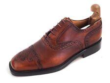 Campanile Cap Toe Brogues Brown Leather Mens Shoe Size US 11 EU 44