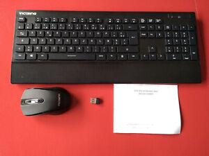 Clavier sans fil avec souris et récepteur USB VictSing