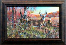 "The Gathering by Jim Hansel Deer Buck  Framed Decorator Print 14.5"" x 10"""
