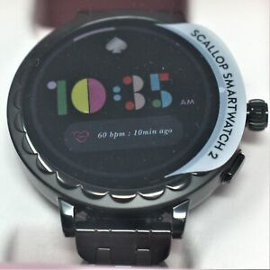 kate spade KST2013 new york raven scallop smartwatch 2 black