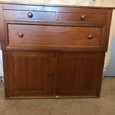 Antique Large Maple Sideboard Cupboard Linen Liquor Cabinet 4 Restoration Armoir