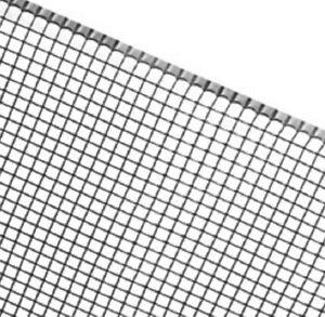 Moosgitter black - 30x15cm aus HDPE - mit Binder - 1,4 cm Maschen - Mooswand