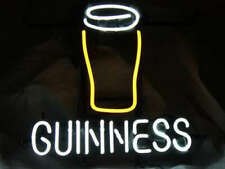 """Guinness Cup 20""""x16"""" Neon Sign Light Lamp Beer Bar With Dimmer"""