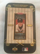 Upper Deck Mickey Mantle Metallic Impression Collector Cards